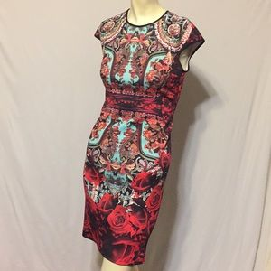 Clover Canyon gorgeous bodycon fitted dress EUC S